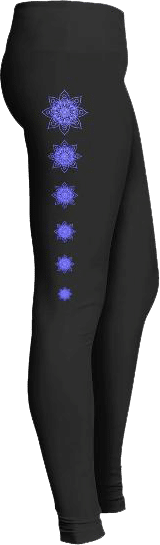 Purple Mandala Yoga Leggings