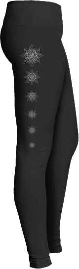 White Mandala Leggings Design
