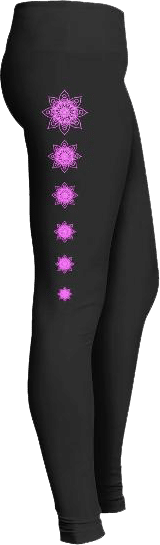 Pink Mandala Leggings Design