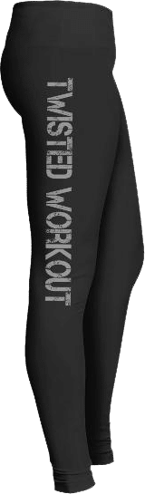 Twisted workout gym fitness leggings