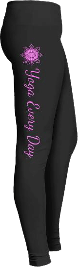 Yoga every day pink mandala leggings