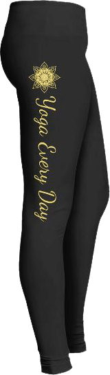 Yellow Yoga Everyday Amazing Comfort Fit Yoga Fitness Leggings
