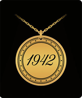 Gifts for someone born in 1942 pendant necklace