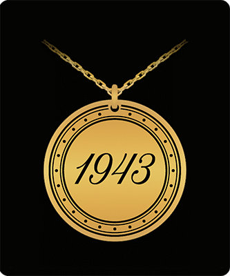 Gifts for someone born in 1943 pendant necklace