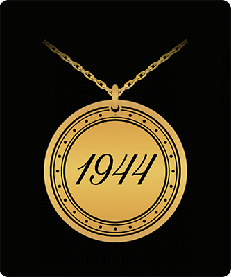 Gifts for someone born in 1944 pendant necklace