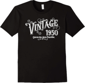 1950 Vintage Genuine Old Skool Perfection Tee Shirt