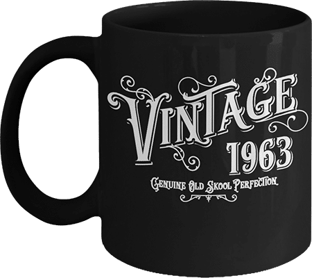 Born 1963 Vintage Genuine Old Skool Perfection Coffee Mug