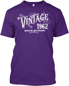 Born 1962 Birth Year Vintage t shirt