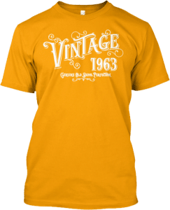 Born 1963 Vintage Genuine Old Skool Perfection Tee Shirt