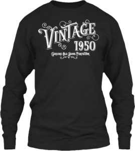 1950 Long Sleeve Vintage Old Skool Perfection