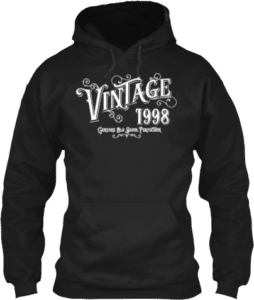 1998 Vintage Genuine Old Skool Perfection Hoodie