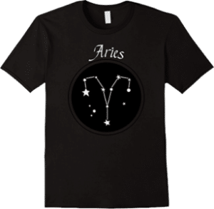 T Shirt Constellation Aries zodiac sign born March 21 to April 19
