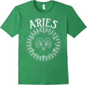 Aries Ram Sun Star Sign Zodiac T shirt