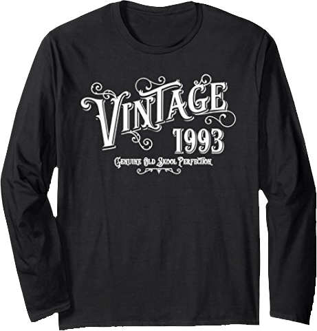 Apparel Care Vintage 1993 Long Sleeve Tee Shirt