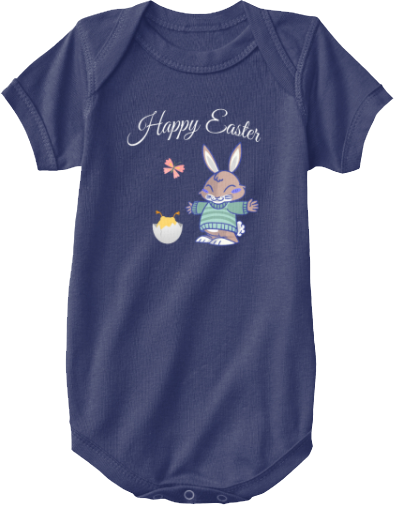 Bunny Chick Butterfly Baby Easter Onesie