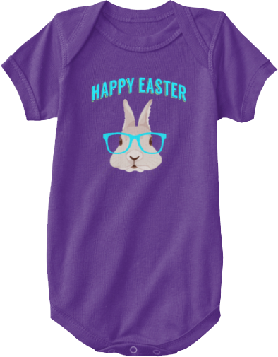 Hipster Easter Bunny Onesie for infants