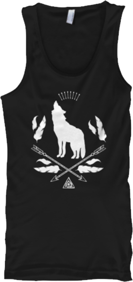 Howling Wolf Bohemian Arrows Feathers Tank Top
