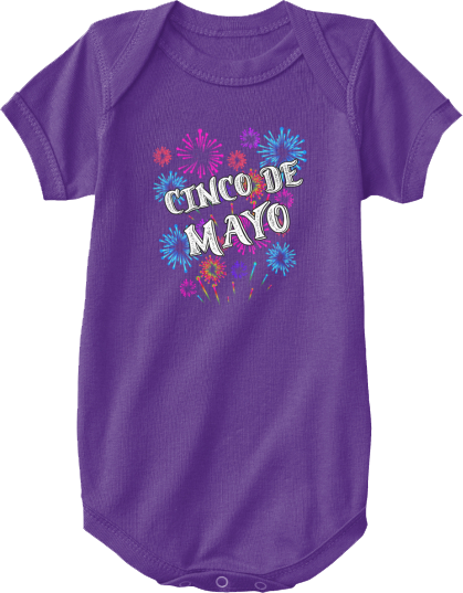 Infant One Piece Cinco de Mayo Fireworks
