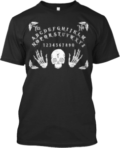 Spirit Board Skeleton Skull T shirt