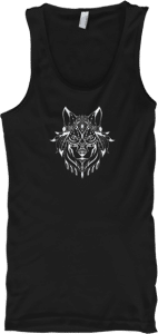 Ethnic White Wolf Tank Top