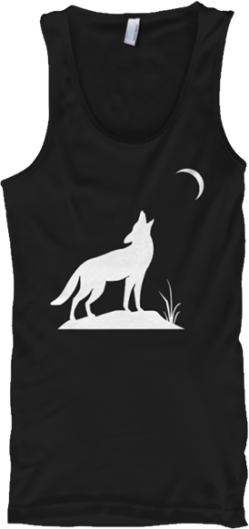 White wolf howling at the moon tank top