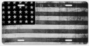 American Flag License Plate Cover