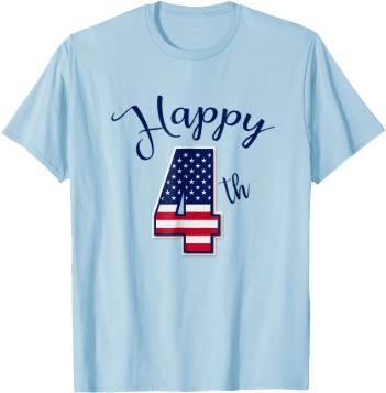 Happy Fourth of July Stars Stripes American Flag T shirt