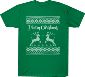 Merry Christmas Shirt Reindeer Ugly Tee