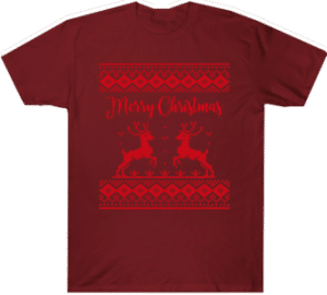Merry Christmas Reindeer Ugly Tee