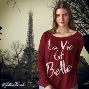 French Language Tops Fashion Tees France Paris 1