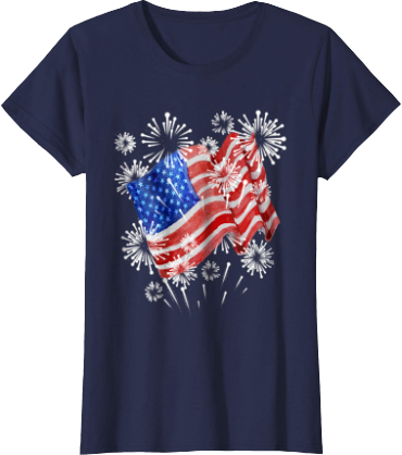 c7509f665 Freedom Loving American Patriot · Happy 4th of July American Flag Shirt · American  Flag Fireworks Womens Top Men's & Kid's version too. Click in.