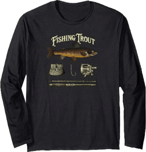 Fishing Trout Tackle Father's Day Sports Shirt Long Sleeve