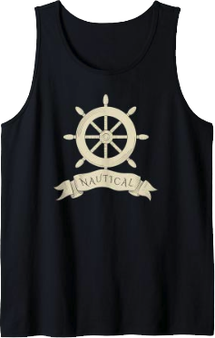 Nautical Sailing Rudder Tank Top for Men and Women