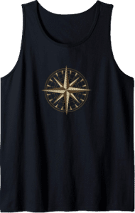 Sailing Compass Ocean Tank Top