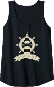 Lighthouse Rudder Nautical Tank Top