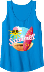 Surfing Summer Sun Sunglasses Beach Tank Top