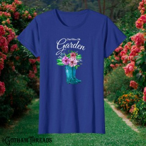 Gardening, gardens flowers floral clothes for mom and grandmother