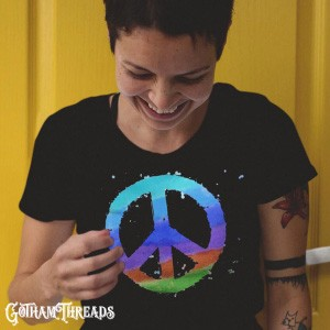 Retro Hippie World Peace Psychedelic Clothes Collection Casual Clothing