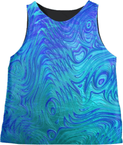 Ocean Ripples Fractal Sleeveless Top