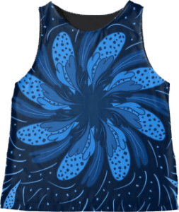 Garden Flower Blue Sleeveless Top
