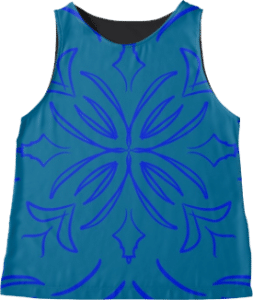 Classic Tile Blue Sleeveless Top