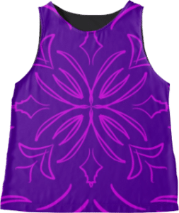 Classic Tile Purple Sleeveless Top