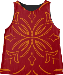 Red Classic Tile Sleeveless Top
