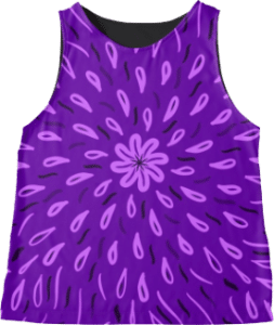 Purple Flower Drops Sleeveless Top