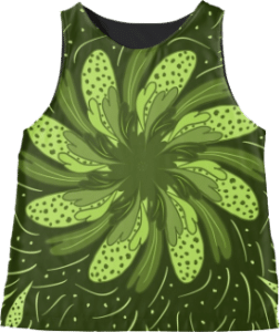 Garden Flower Green Sleeveless Top