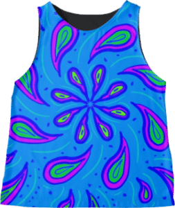Paisley Blue Sleeveless Top