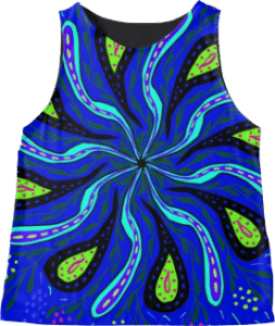 Paisley Flower Sleeveless Tank Top