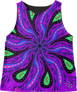 Purple Green Paisley Tank Top