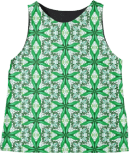 Green Tile Sleeveless Top