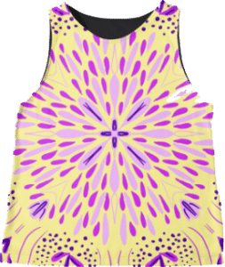Yellow Star Flower Sleeveless Top